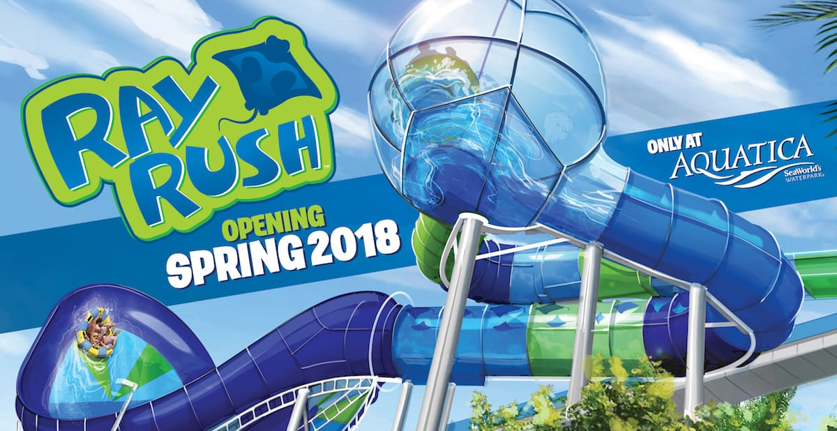 Aquatica Ray Rush Opens May 12 2018 Kgs Kissimmee Guest Services