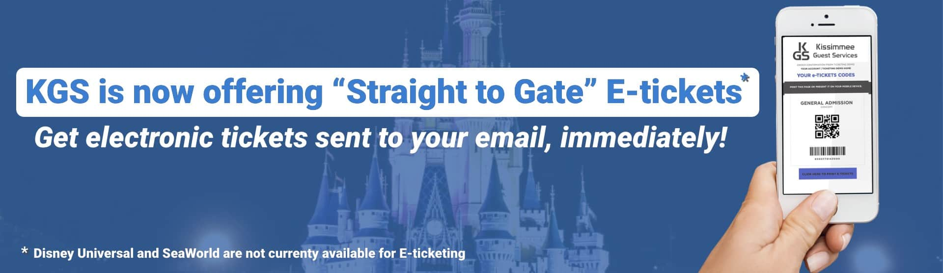 KGS Straight To Gate E-Ticket KGS Discount Attraction Tickets Orlando