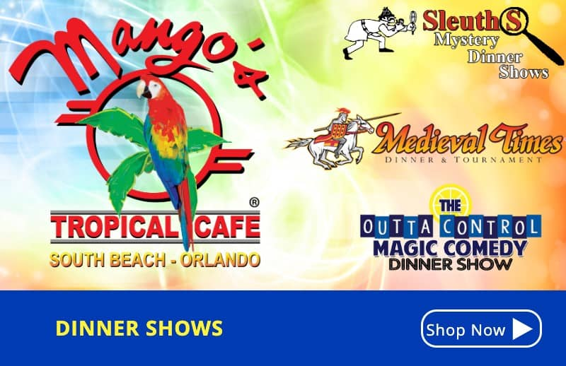 KGS Dinner Shows - Discount Mango's Tickets Orlando